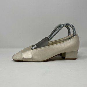 Coloriffics Womens Size 6.5 Champagne Pumps Heels